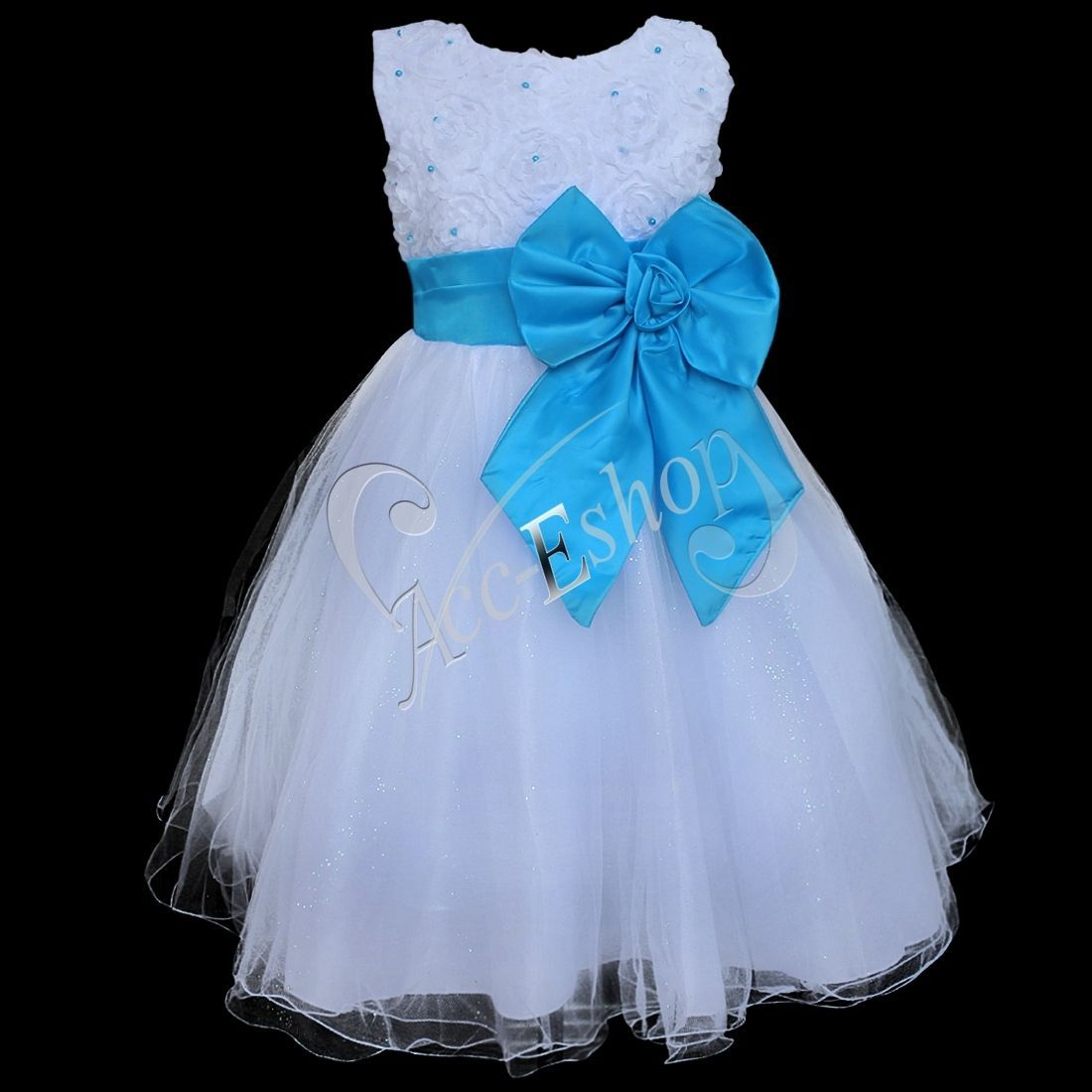 Flower Girl Princess Dress Kid Baby Party Wedding Pageant Formal ...