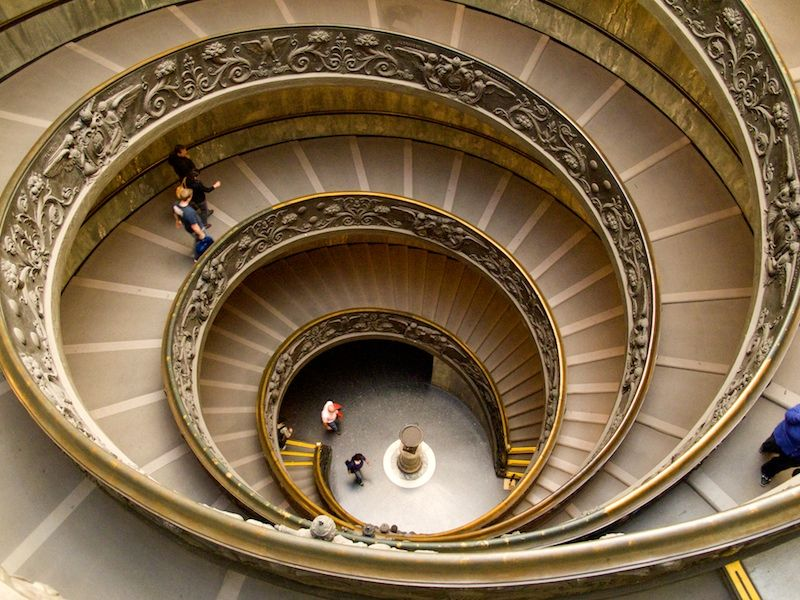 Vatican Museum Spiral Staircase - going down