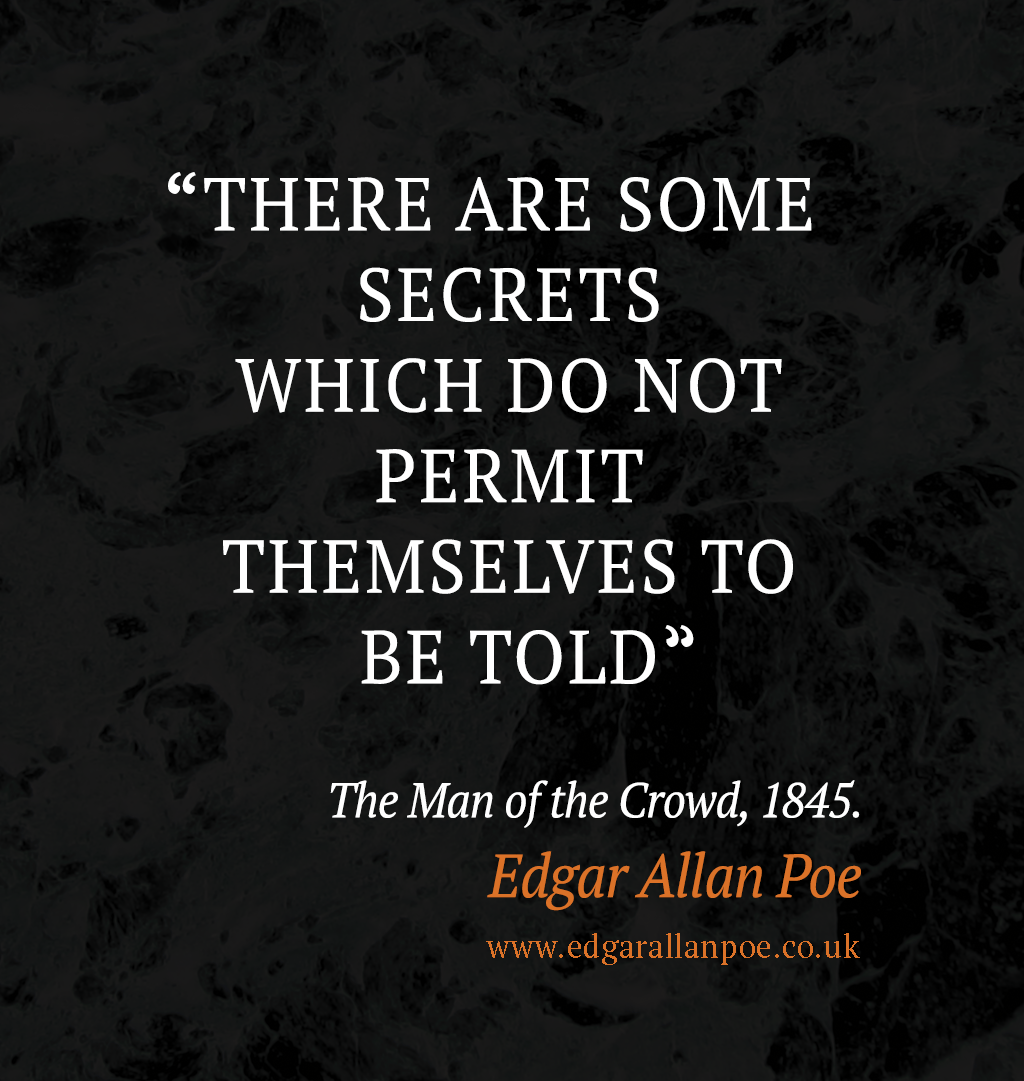 Edgar Allan Poe Quotes: The Man Of The Crowd, Edgar Allan
