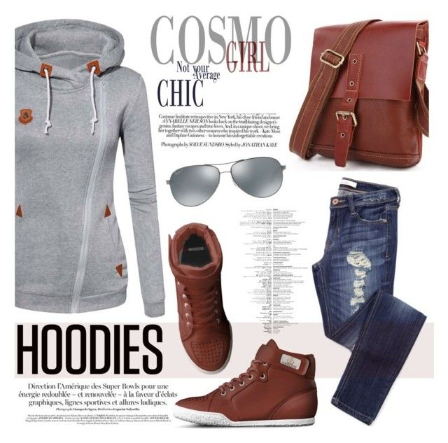 """Winter Layering: Hot Hoodies"" by tuccipolo ❤ liked on Polyvore featuring Ray-Ban, women's clothing, women's fashion, women, female, woman, misses, juniors, Hoodies and contestentry"