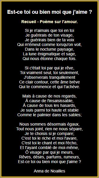 Poesie D Amour Poemes D Amour En Images Texte Romantique Poeme Romantique Poeme D Amour