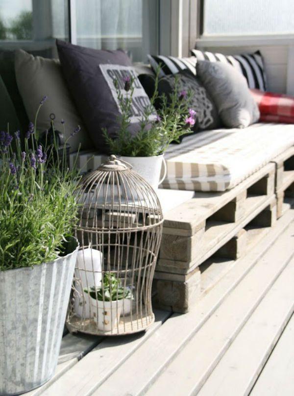 Inspiraci n para decorar terrazas y balcones pinterest for Muebles para balcones y terrazas