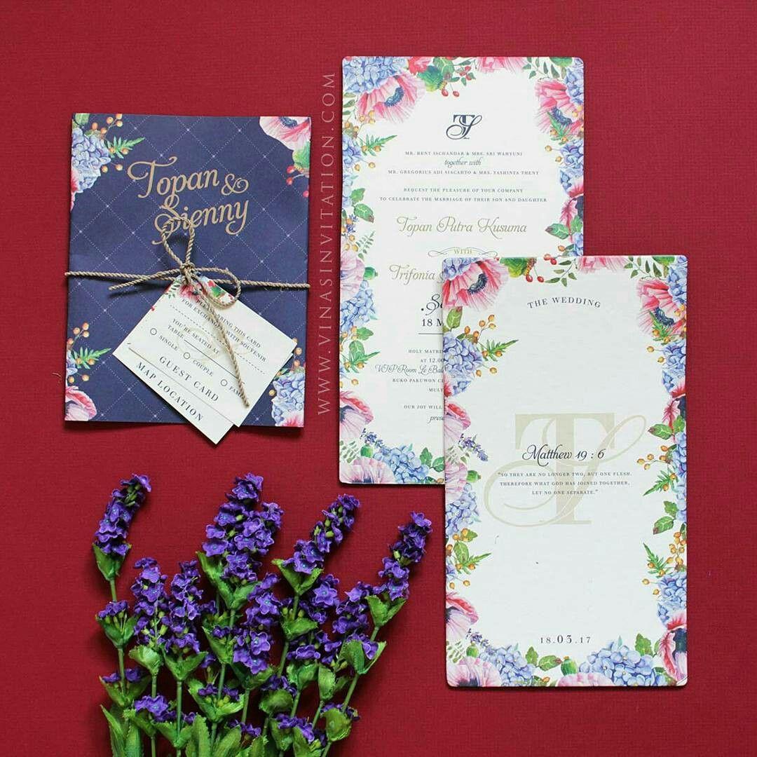 Vinas invitation. Indonesia wedding. Flower theme invitation. Custom ...