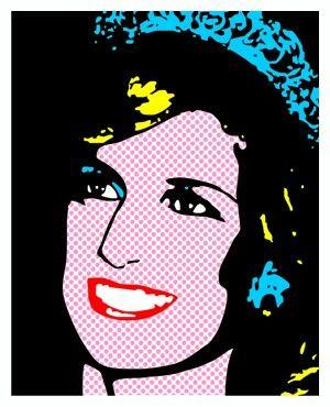 Lady Di Pop Art Look Lichtenstein Pop Art Portraits Pop Art Art
