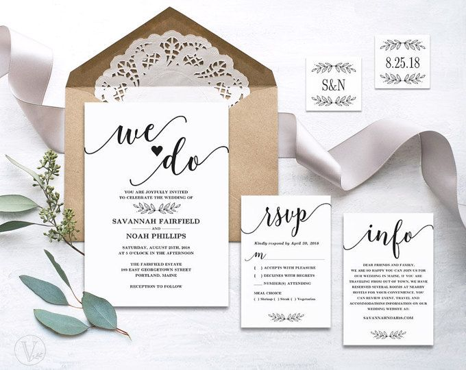 This wedding invitation template set includes five high resolution this wedding invitation template set includes five high resolution templates invitation card rsvp stopboris Choice Image