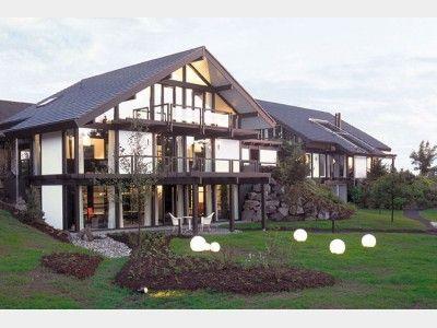 fachwerkhaus modern mit balkon von davinci haus gmbh co. Black Bedroom Furniture Sets. Home Design Ideas