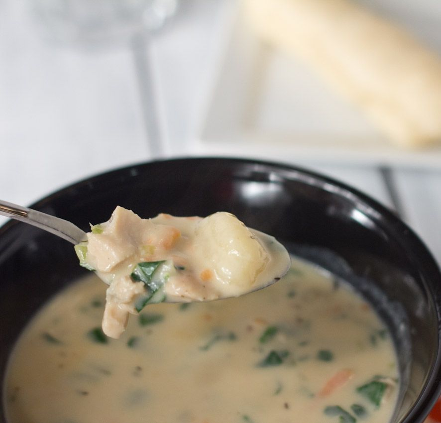 Chicken gnocchi soup dinners dishes and desserts - Olive garden wedding soup recipe ...