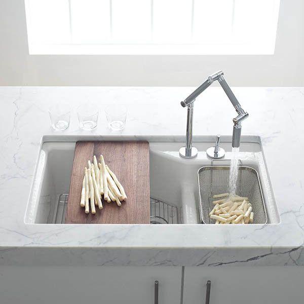 Kohler Indio Smart Divide Double Basin Cast Iron Sink
