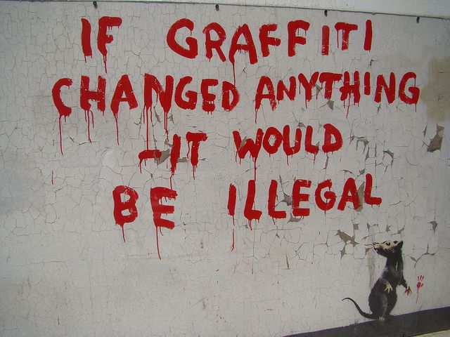 If Graffiti Changed Anything (Fitzrovia, Central London, 2011)
