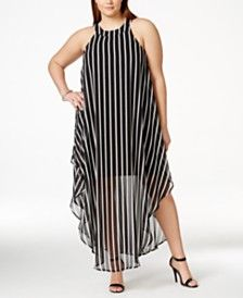 8799311a Love Squared Plus Size Striped Maxi Shift Dress | THE CURVE APPEAL ...