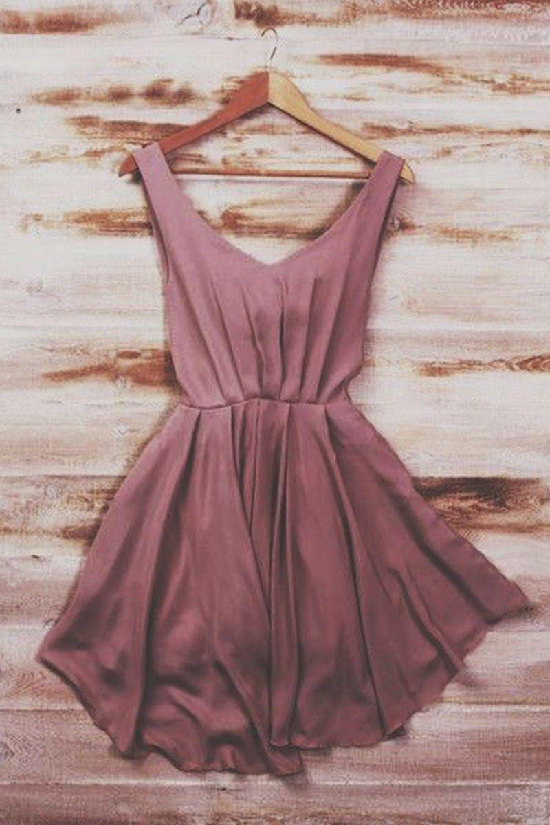 Dusty Rose Silk Mini #Dress