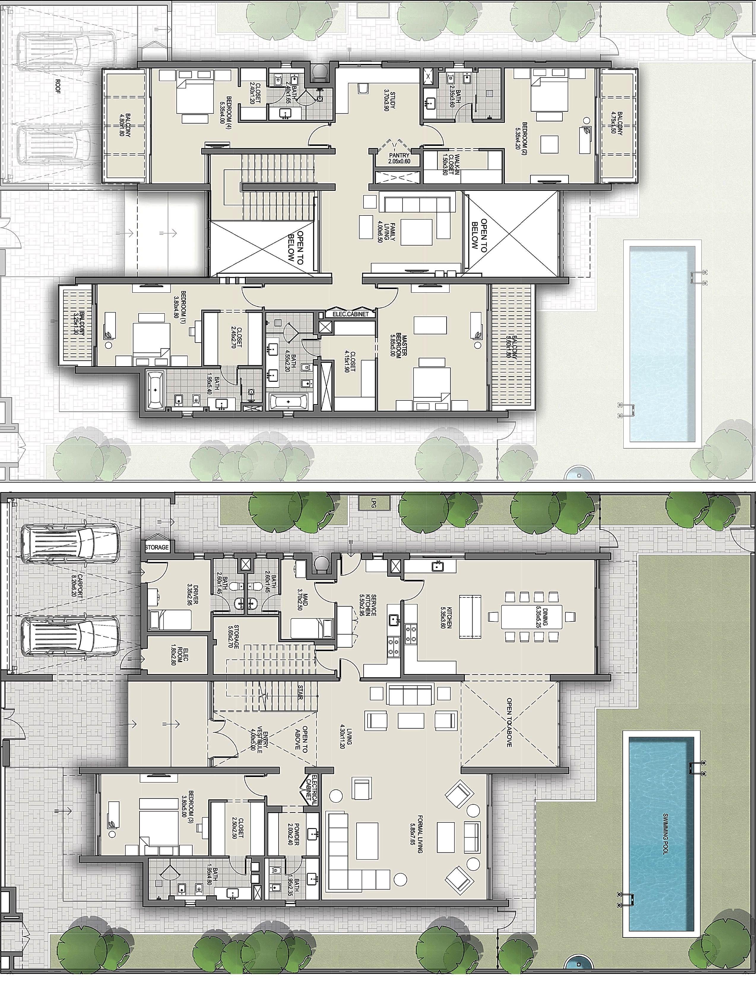 District One Dubai Villas Beautiful House Plans House Plans Courtyard House Plans