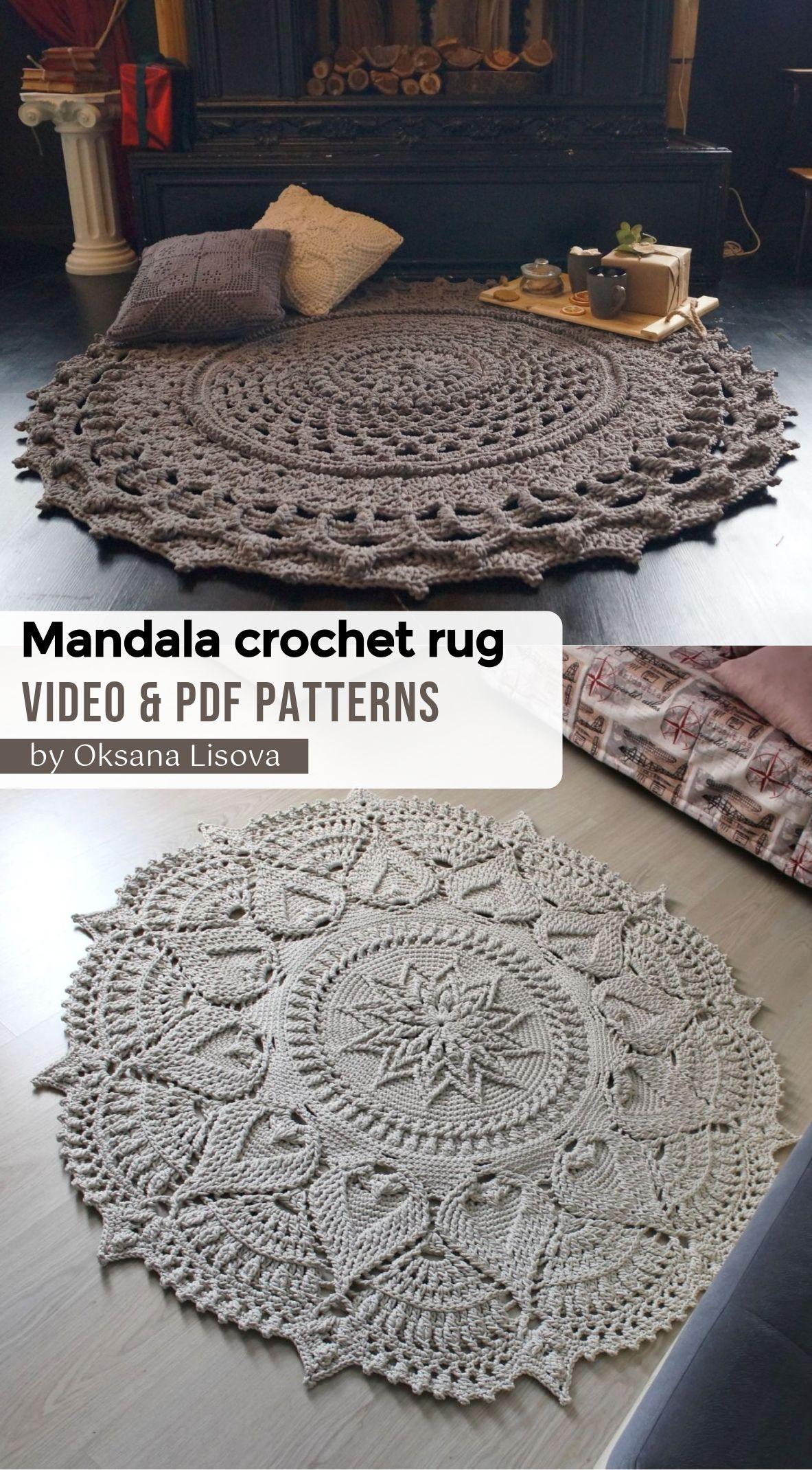 Crochet Floor Rug Video Pdf Tutorials See All Carpet Patterns In 2020 Crochet Rug Patterns Crochet Rug Patterned Carpet