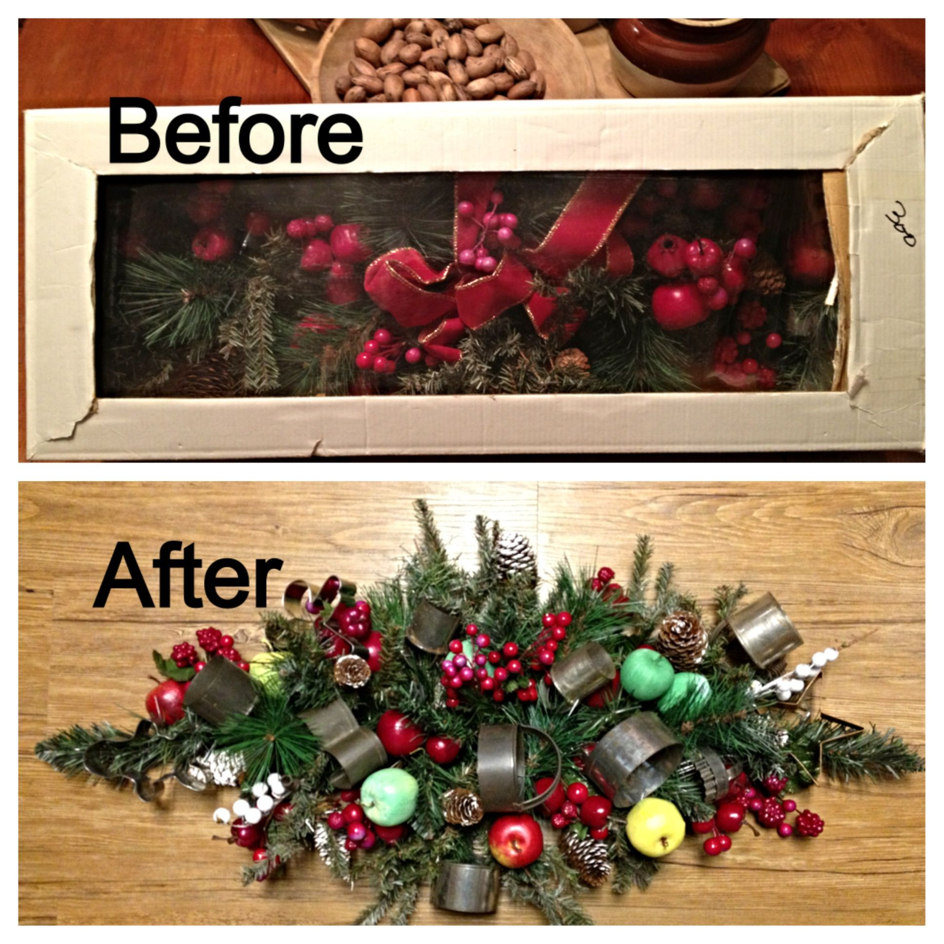 Christmas Dining Room Ideas To Add A Flourish To Christmas: DIY: Bought This Old Christmas Swag Used, In The Box At