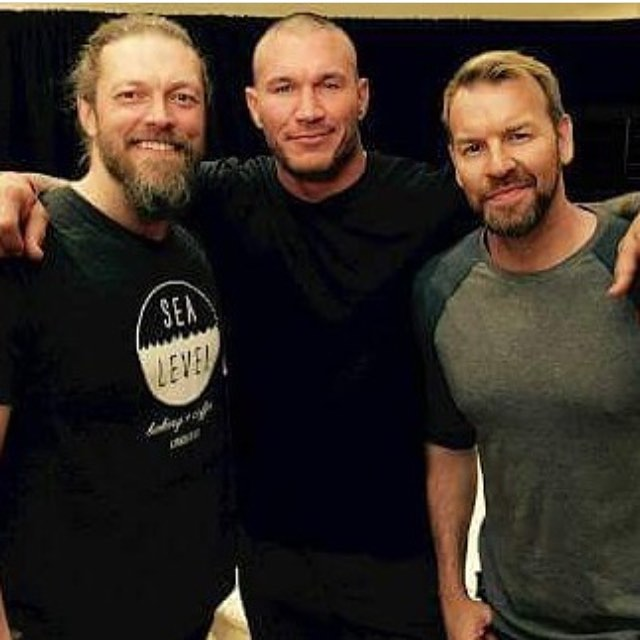 WM33 Randy Orton, Edge And Christian
