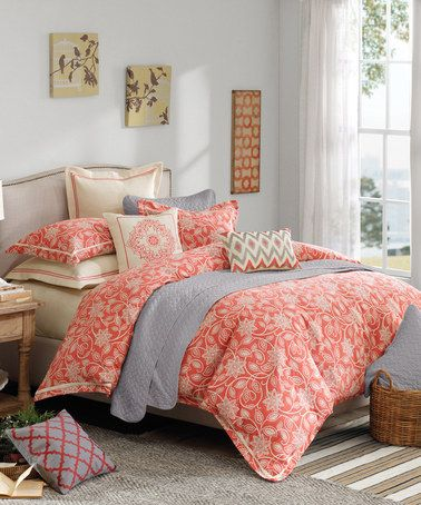 Love This Coral Cream Comforter Set On Zulily Zulilyfinds