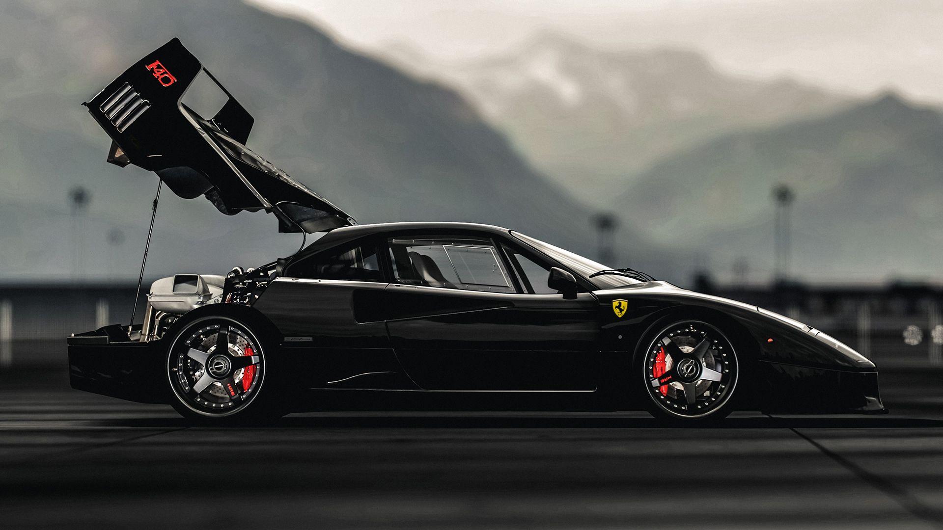 Black Ferrari F40 Wallpaper Ferrari f40 black wallpaper