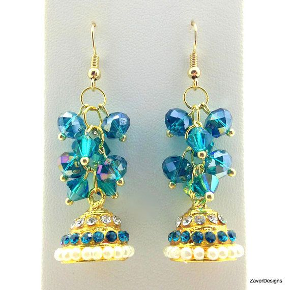 Teal chandelier earrings teal cluster earrings teal earrings teal chandelier earrings teal cluster earrings teal earrings indian earrings ethnic earrings dome earrings bollywood earrings earring mozeypictures Images