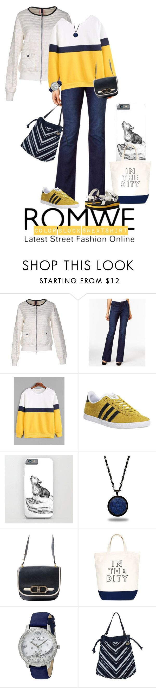 """""""Color Block Sweatshirt"""" by fsg-designs ❤ liked on Polyvore featuring Club Des Sports, Lee, adidas, Marlin Birna, Delvaux, CITYSHOP, Lucien Piccard, Juicy Couture and Teva"""