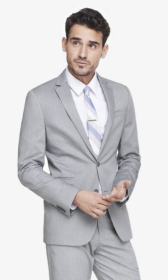Light Gray Oxford Cloth Photographer Suit Jacket | Shops, Click ...