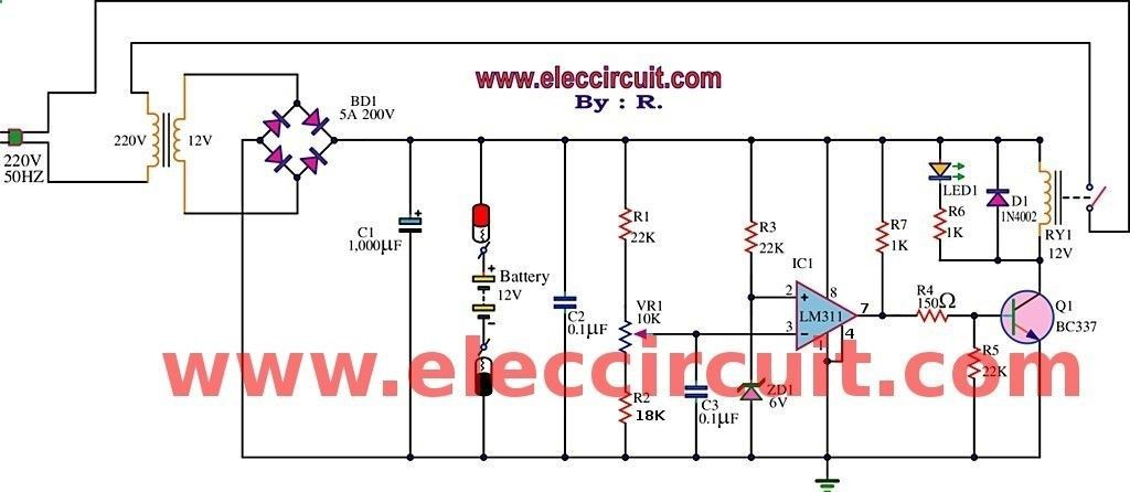 Best 12v Battery Charger Circuit Using Lm311httpeleccircuit