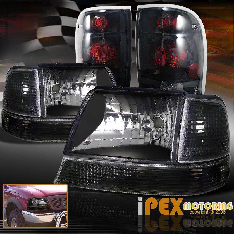 Smoke Light Combo For 98 Ranger Ford Ranger Ranger Black Headlights