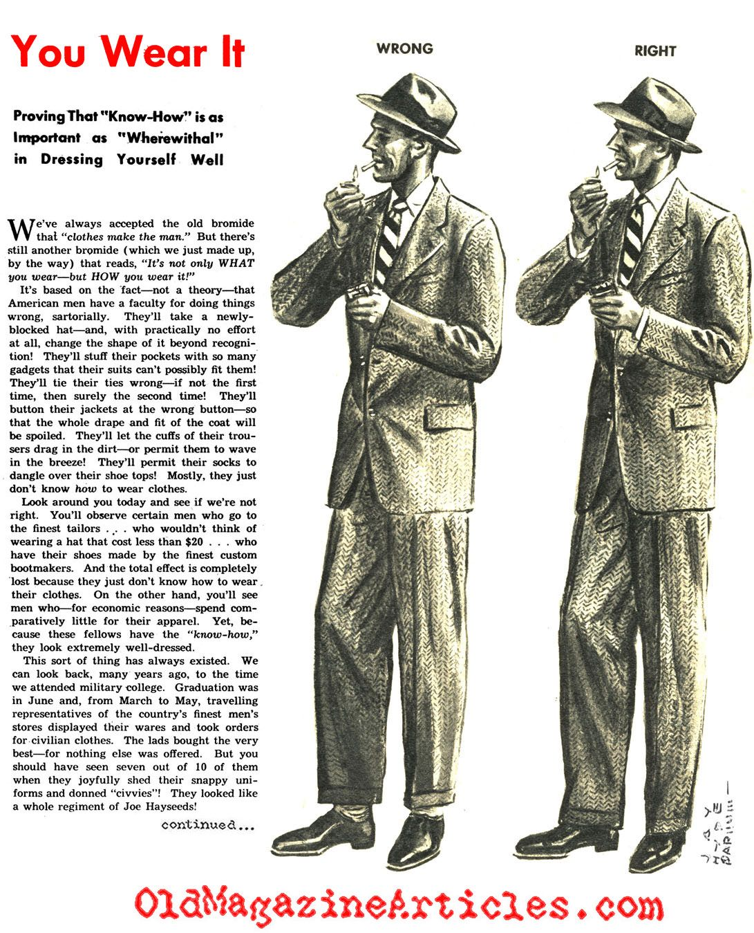 1940S Mens Fashion | The Dos and Don't in Men's Suiting of ...