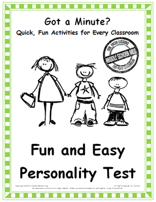 It is a picture of Simplicity Printable Personality Test for Students