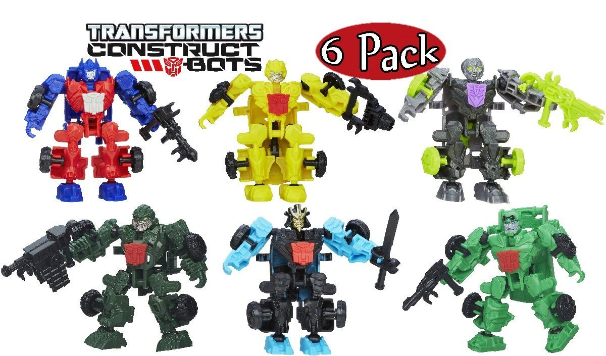 TRANSFORMERS CONSTRUCT BOTS DINOBOT RIDERS ASSORTMENT SET 6