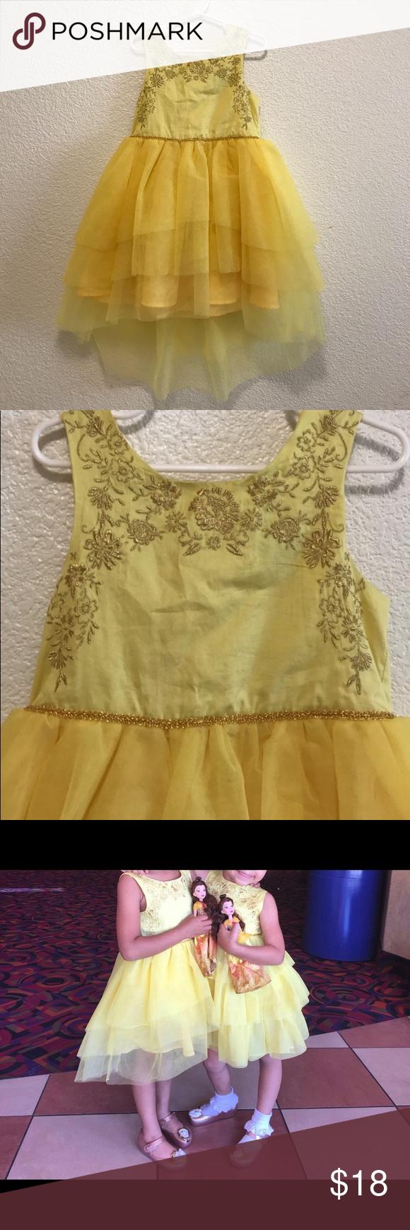 Belle Dress From Target Size Xs 4 5 Belle Dress Dresses Disney Dresses [ 1740 x 580 Pixel ]