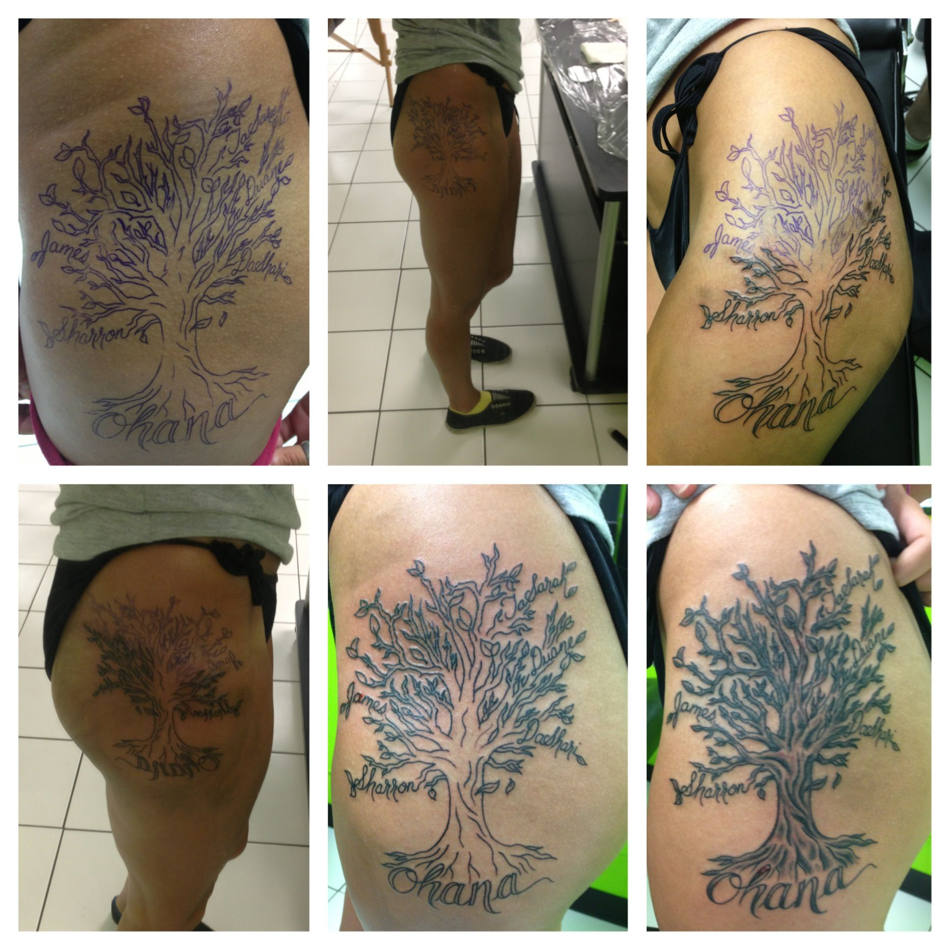 69 meaningful family tattoos designs mens craze - Family Tree Ohana Tattoo Side Tattoo Love My New Tattoo 3