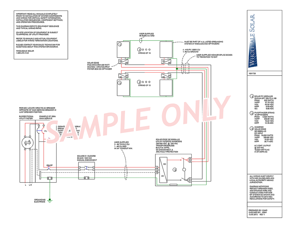 electrical wiring diagram sample 1 to off grid solar