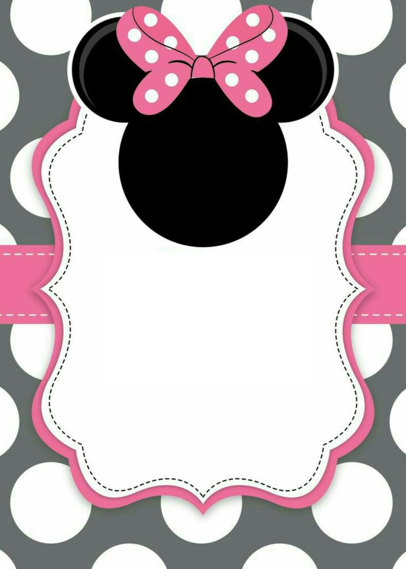 Invitación Minnie Mouse Invitación De Minnie Mouse