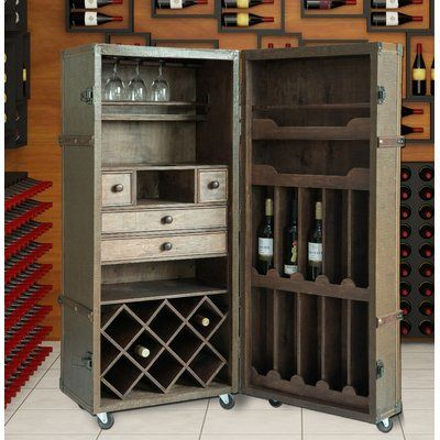 Loon Peak Douglass Vintage Crocodile Bar Cabinet Wine Bar Cabinet Home Bar Decor Storage Spaces