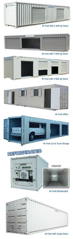 40 Foot With 2 Roll Up Doors  Http://www.azteccontainer.com/storage Container 40ft 2 Roll Up Doors.html