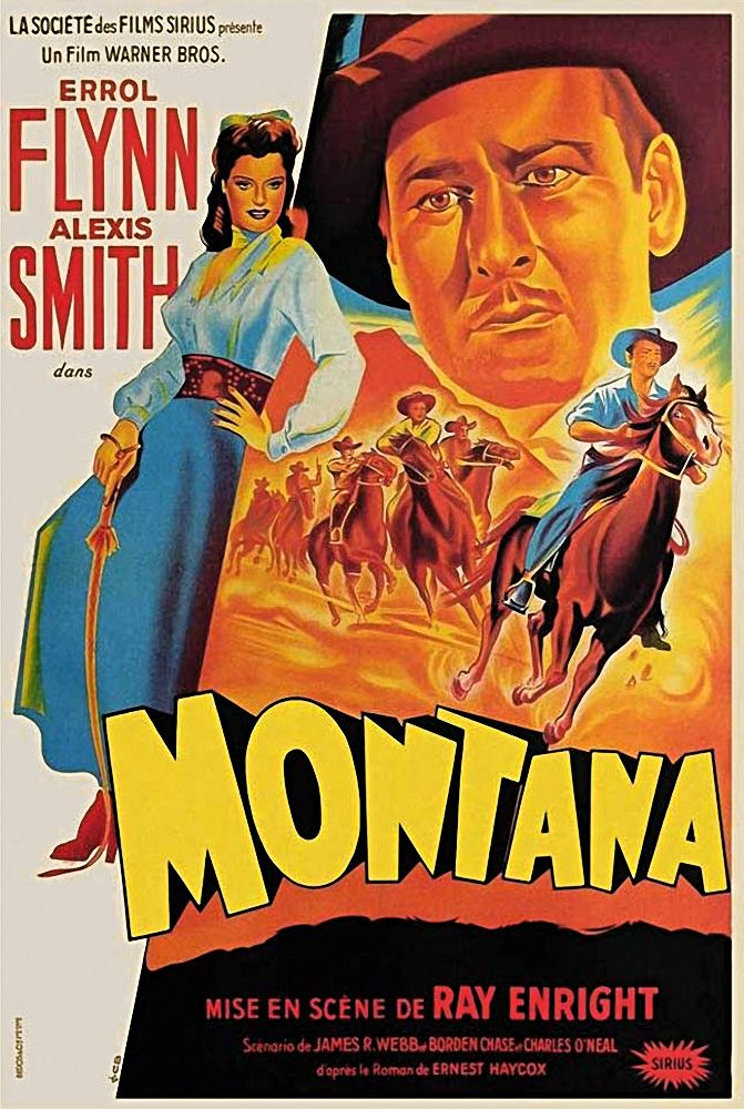 This Is A French Movie Poster For The 1950 Warner Brothers Film Montana Starring Errol Flyn Classic Films Posters Movie Posters Vintage French Movie Posters
