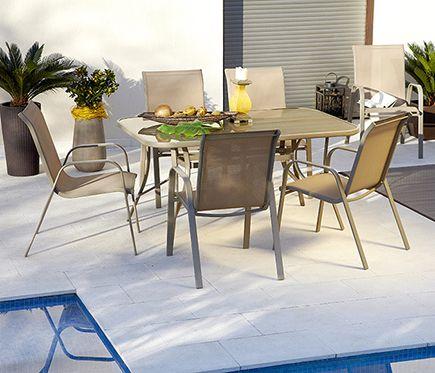 Conjunto de acero y textileno MIJAS - Leroy Merlin   Piso Playa ...