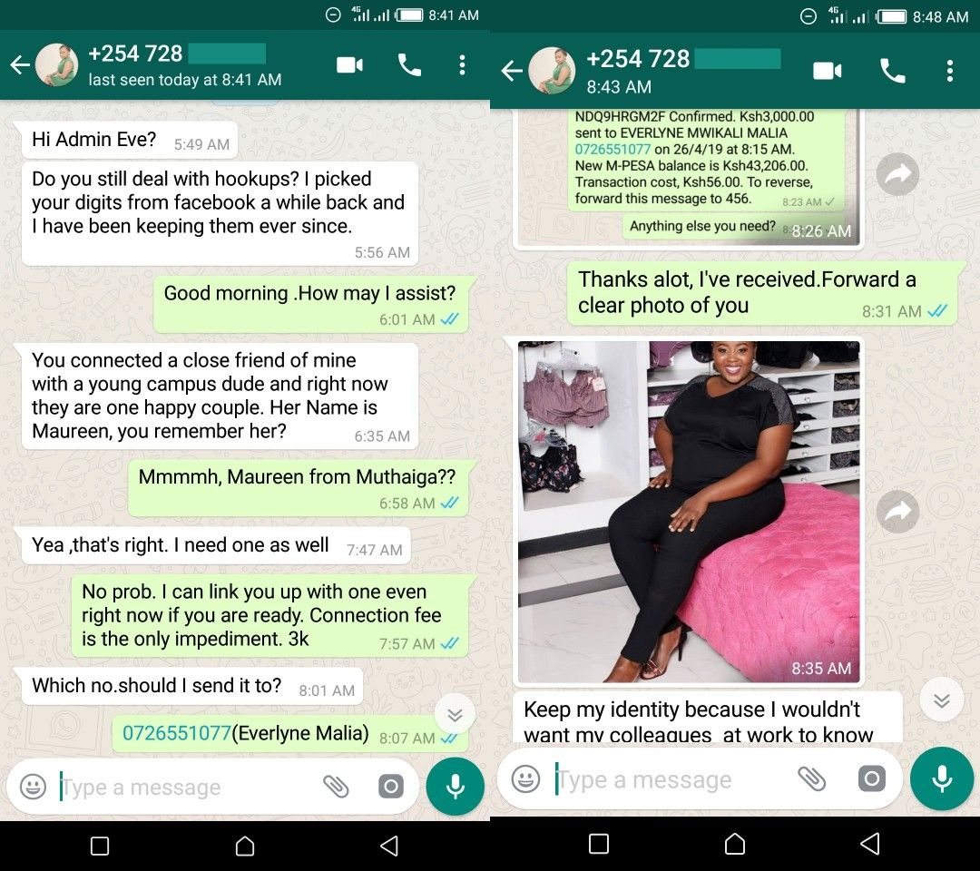 WhatsApp hookup