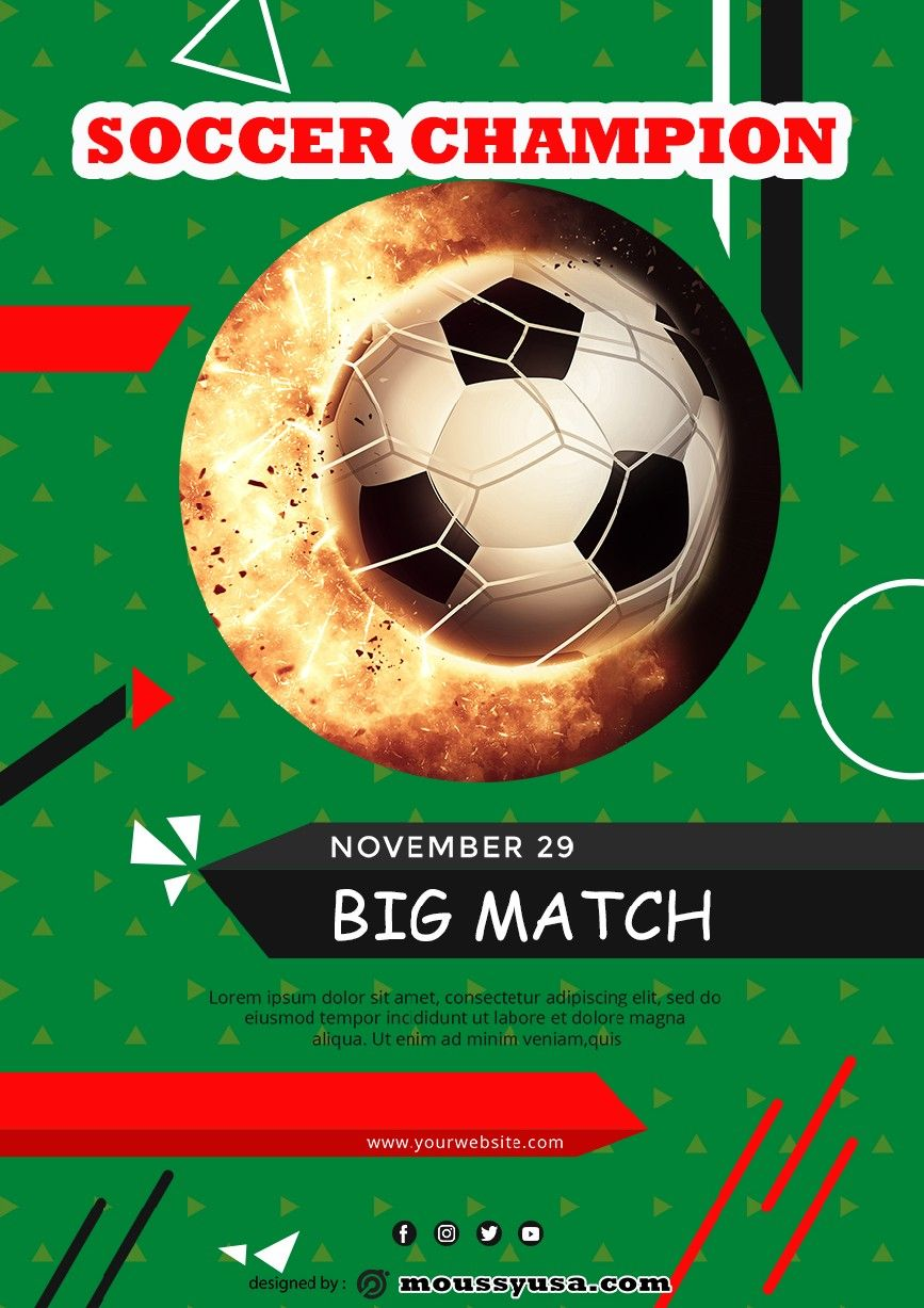 Soccer Game Flyer and the Free Templates to Download Those
