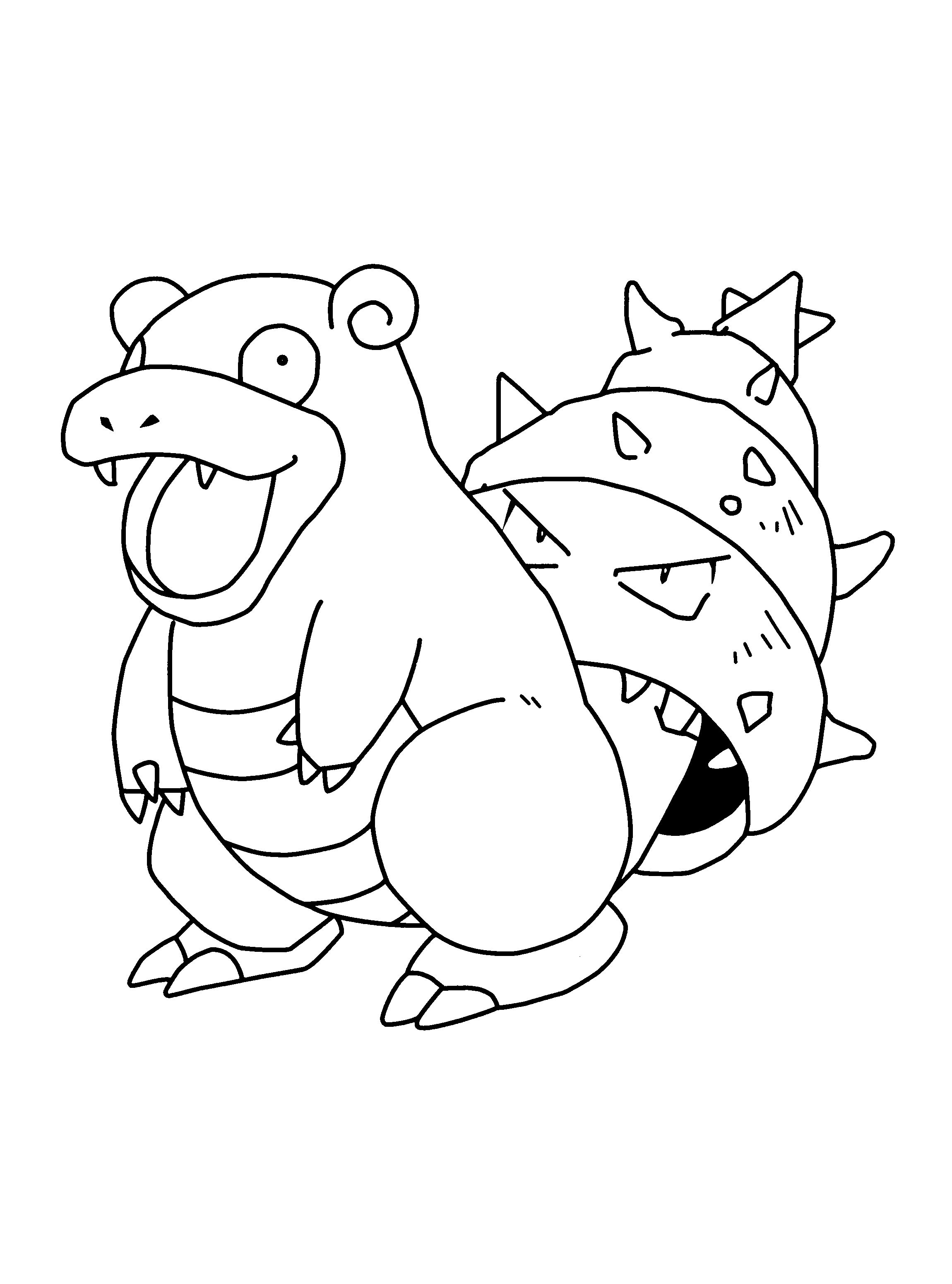 Slowbro Coloring Pages To Print In 2020 Pokemon Coloring