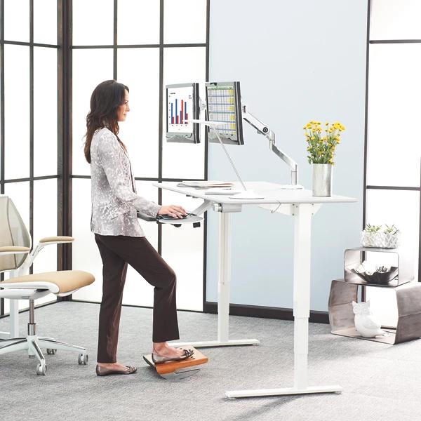 Humanscale Ergonomic Floating Desk Home Office Design White Wood Desk Home