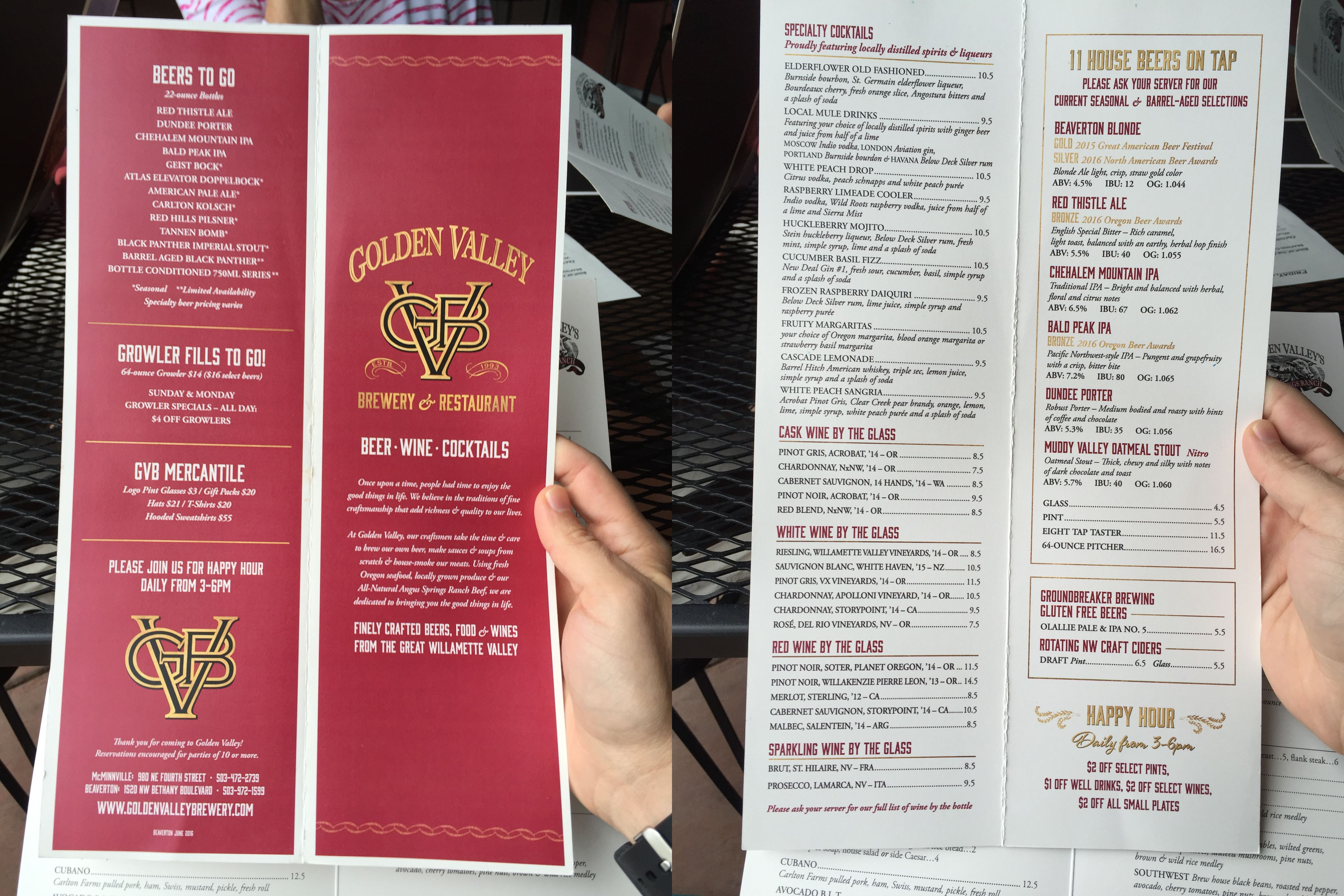 Golden Valley Brewery New Wine Menu Design HttpWww