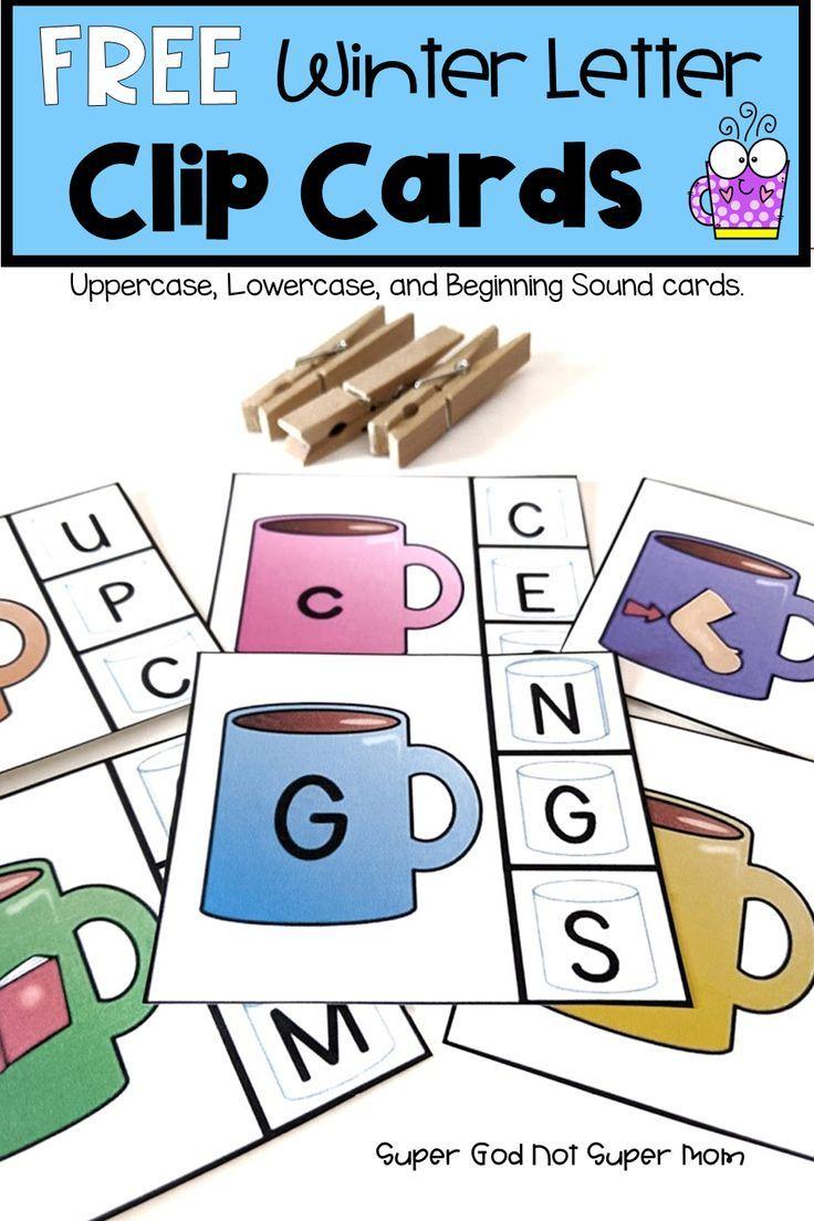 Photo of Winter Alphabet Clip Cards