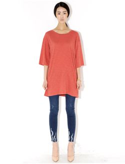 Today's Hot Pick :Loose Heathered Top http://fashionstylep.com/SFSELFAA0005628/bluepopsen/out Simple yet stylish! This top has all the features that you want if you aim for that easy and simple casual look. It has a loose fit for that comfortable feel and heathered detail for that soft and smooth look. You can pair this top with patterned leggings and tight jeans. Finish your outfit by wearing flats or heels.