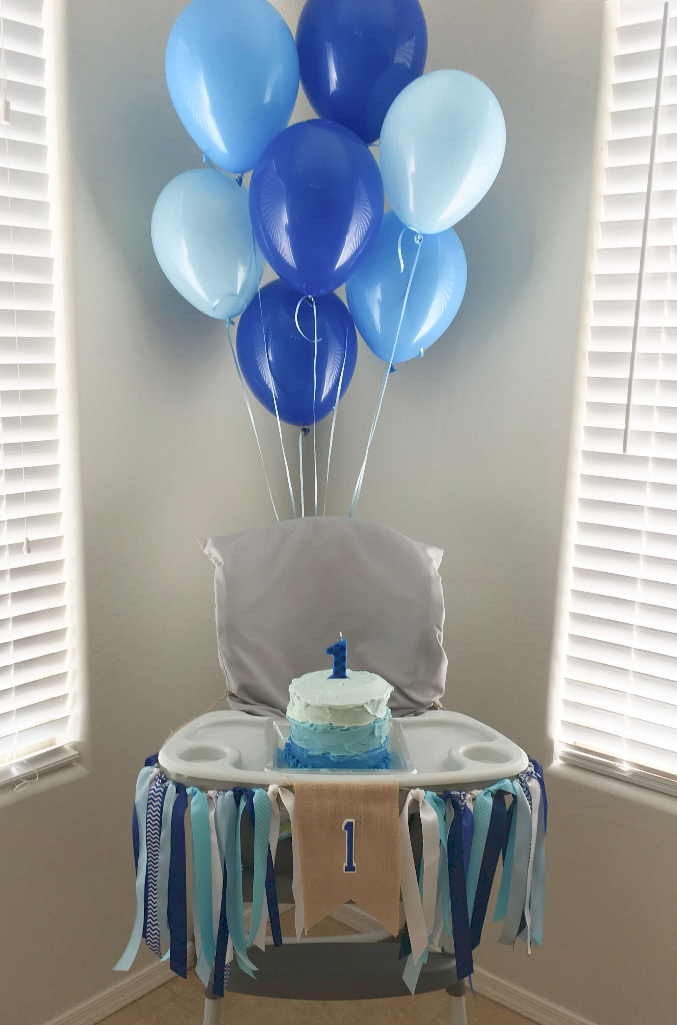 My Diy High Chair Banner And Smash Cake For Our Little 1 Year Old