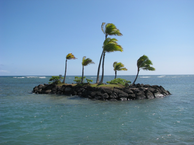 Kahala's own private island. Off limits, unless you're a stealth swimmer ;)