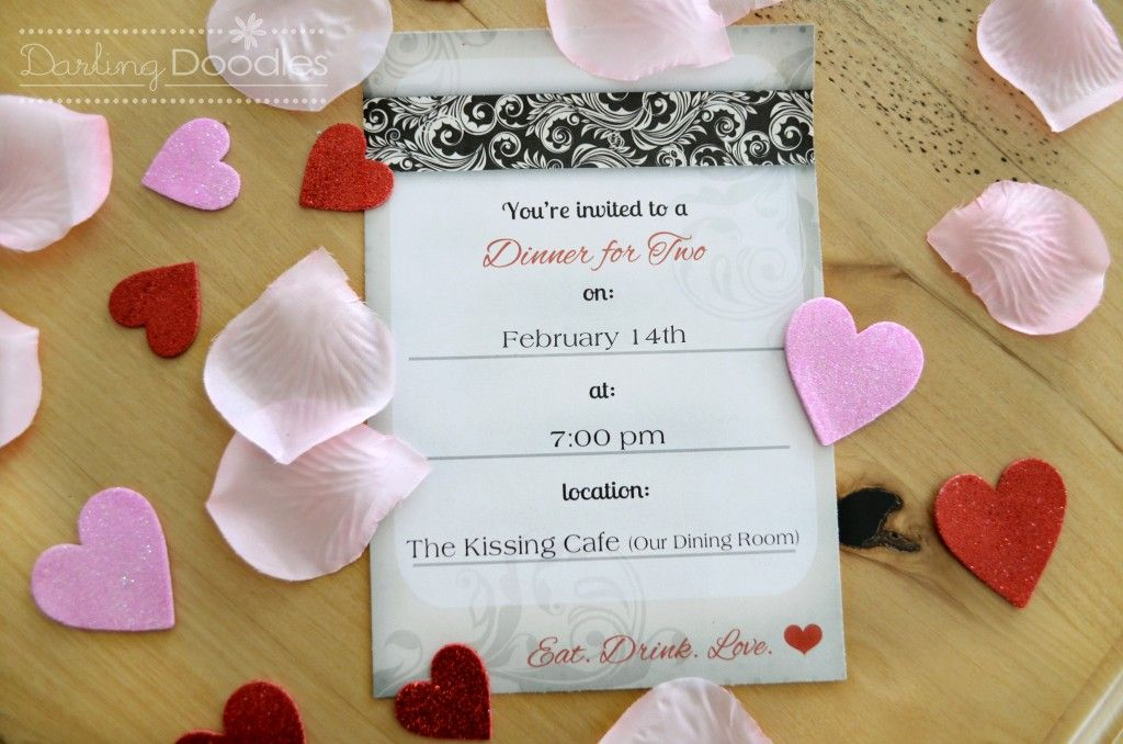 Romantic Dinner Date for Two Idea | Valentines | Pinterest | Craft