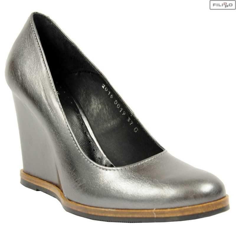Czolenka Simen 0019 Ferro 8022844 Buty Damskie Czolenka Czolenka Na Koturnie Kolekcja Premium Filippo Pl Shoes Wedges Metal