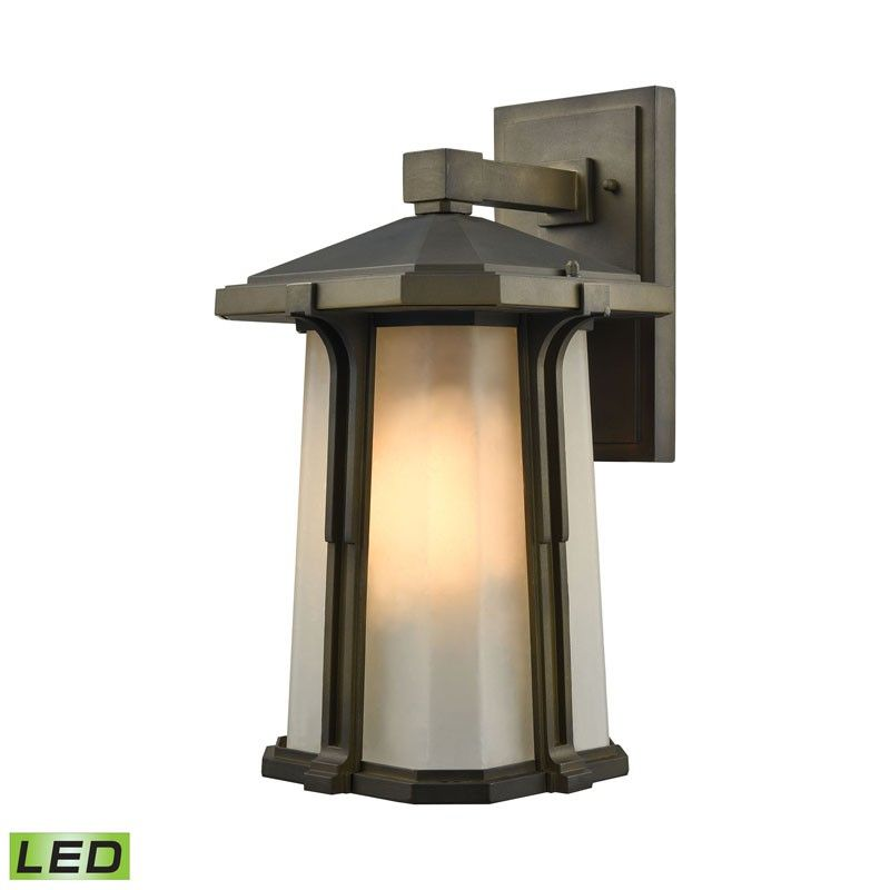 Elk Lighting 87092 1 Led Brighton 1 Light Led Outdoor Wall Sconce In Smoked Bronze Bronze Outdoor Lighting Outdoor Wall Sconce Outdoor Wall Lantern