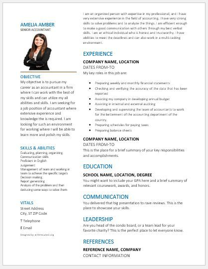 Accountant Resume 2018 Template DOWNLOAD At Writeresume2org